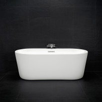 Kylpyamme Deep 1500R, 1465x680x530mm, 220l, valkoinen