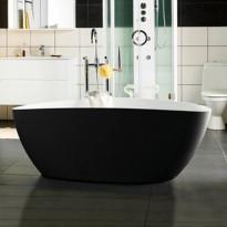 Kylpyamme Ellipse 1700, musta/valkoinen matta
