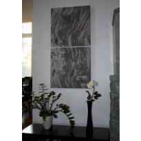 Akustiikkataulu Quiet 80x160 kollaasi 2 kpl 80x80 cm eri kuvia (myös omalla kuvalla)