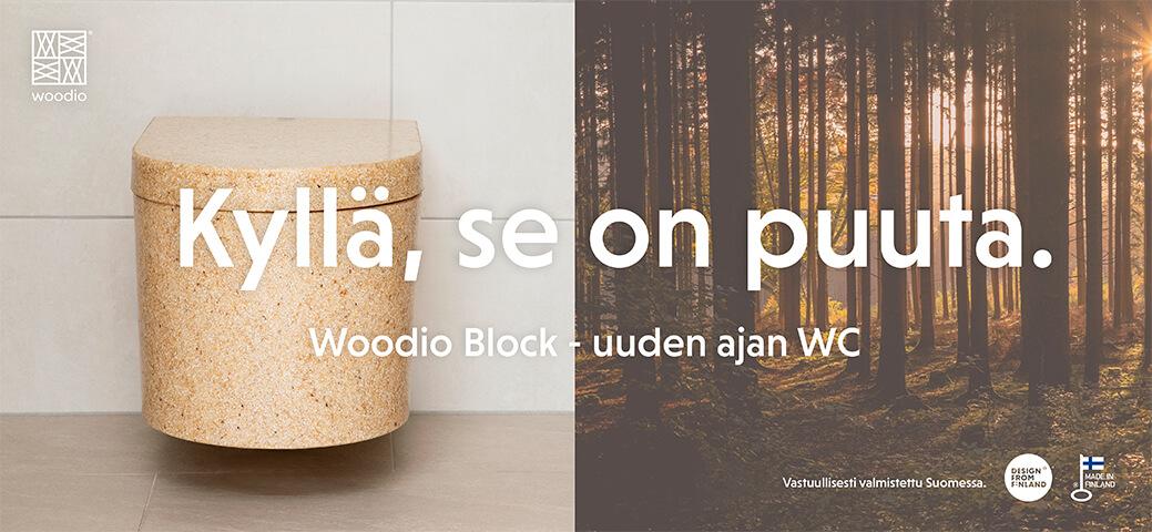 Esittelyssä uuden ajan wc-istuin - Woodio Block